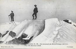 MONTAGNE 06 VALLEE DU BOREON SOMMET DU MONT PELAGO - V-de CESSOLE 28/01/1898 - Alpinisme