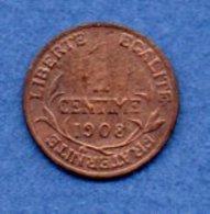1 Centime 1908 / TTB - A. 1 Centime
