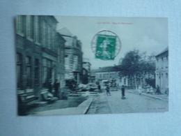 1910 AULNOYE RUE DE BERLAIMONT  EDITIONS L.S.CIRCULÉE DIVISÉE  ETAT BON - Aulnoye