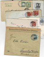 Lot De 5 Enveloppes De Différentes Périodes De L'Empire Et Une Carte Postale De Bavière - Deutschland