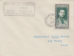 Cambodge 1952 N Sihanouk Avec Griffe 1-2-1952 Voyagée - Cambodia