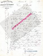 80- AMIENS- RARE LETTRE MANUSCRITE SIGNEE CRIGNON-DUCHEMIN- LAINES PEIGNEES -77 RUE SAINT LEU- 1889 - France