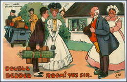 Y2765/ Hochzeit Brautpaar Honey-Moon  Litho AK 1907 - Altri