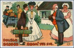 Y2765/ Hochzeit Brautpaar Honey-Moon  Litho AK 1907 - Cartoline