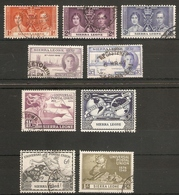 SIERRA LEONE 1937 - 1949 COMMEMORATIVE SETS FINE USED Cat £21+ - Sierra Leone (...-1960)