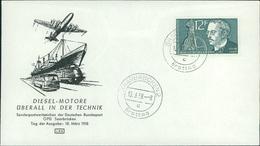 FDC Saarland, Michel 432, Rudolf Diesel, O Saarbrücken 2 C (11-171) - Briefe U. Dokumente
