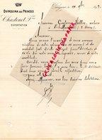 24- PERIGUEUX- RARE LETTRE MANUSCRITE SIGNEE CHASTENET FRERES- QUINQUINA DES PRINCES-1897 - France