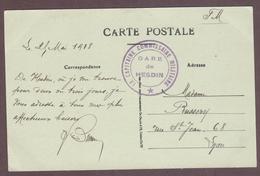 Franchise Militaire * Gare De Hesdin - Le Capitaine Commissaire Militaire * 1914 - 1918  * Département Pas-de-Calais - Guerre De 1914-18