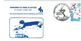 DUNKERQUE - CHAMPIONAT DE FRANCE DE NATATION - 1/2 Aout 1981 - Natation