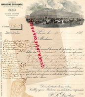 75- PARIS - LETTRE GRANDS MAGASINS DU LOUVRE-1897 - France