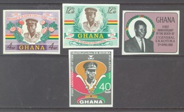 GHANA - 1968 - MNH/** - ANNIVERSARY DEATH KOTOKA NO PERFORATION  - Yv 315-318 - Lot 17903 - Ghana (1957-...)