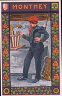 Monthey, Costume Valaisan Par Ad. Sartoretti (295) - VS Valais