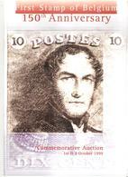 First Stamp Of Belgium, 150th Aniversary - Catalogue De Vente De Corneille SOETEMAN Avec Estimations NEUF - Belgien