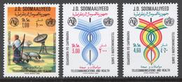Somalia 1981 Mi# 301-03** WORLD TELECOMMUNICATIONS DAY - Somalie (1960-...)