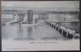 Suisse - Genève - Carte Postale Précurseur - Pont Et Quai Du Mont-Blanc - Animée - Non-circulée - GE Ginevra