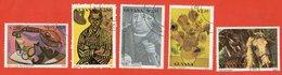 Guyana1990. Painting.Stamps. Complete Series. - Guyana (1966-...)