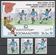 Somalia 1982 Mi# 315-17+ Bl.12** FOOTBALL 1982 WORLD CUP - Somalie (1960-...)