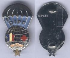 Insigne Du 11e Détachement D'Intervention Parachutiste Féminin De La 11e Division Parachutiste - Services Médicaux