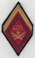 Insigne Losange De Bras + Galons Du 405e Régiment D'Artillerie Antiaérienne - Ecussons Tissu