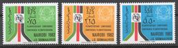Somalia 1982 Mi# 318-20** ITU PLENIPOTENTIARIES CONFERENCE, NAIROBI - Somalie (1960-...)