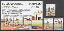 Somalia 1984 Mi# 353-55+ Bl.15** OLYMPIC GAMES LOS ANGELES 1984 - Somalie (1960-...)