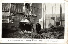 MAROEUIL L EGLISE BOMBARDEE ET RESTAUREE - France