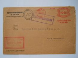 Deutsches Reich Freistempel 046 Pfg.  Berlin SO 1928 Zustellungsurkunde Algemeine Ortskrankenkasse Der Stadt Berlin - Marcofilia - EMA ( Maquina De Huellas A Franquear)