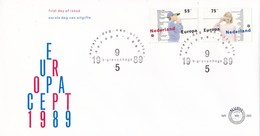 Nederland - FDC - Europa CEPT1989, Kinderspelen - Touwtjestelefoon - NVPH E265 - 1989