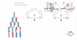 Nederland - FDC - Europa CEPT1989, Kinderspelen - Touwtjestelefoon - NVPH E265 - Kindertijd & Jeugd