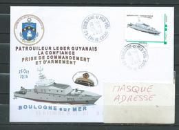 P.L.G LA CONFIANCE - Prise De Commandement - TàD BOULOGNE SUR MER Ppal 25/10/16 Sur Montimbramoi - Naval Post