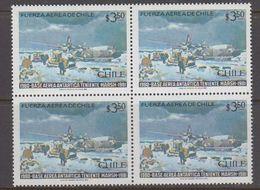 Chile 1981 Antarctica / Base Teniente Marsh 1v Bl Of 4** Mnh (40980B) - Chili