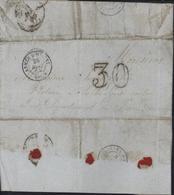 Armée Orient CAD Armee D'orient B Au M 26 12 55 Taxe Tampon 30 Datée Sebastopol Bon Texte Pour Solies Pont Napoleon III - Storia Postale