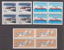 Argentina 1981 Antarctica 3v Bl Of 4 ** Mnh (40980C) - Ongebruikt