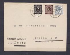 Alliierte Besetzung - 1947 - Briefstück - Zeitz/Berlin - Zone AAS