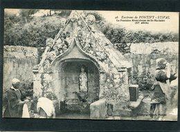 CPA - Environs De PONTIVY-STIVAL - La Fontaine Miraculeuse De St Mariadec, Animé - Laveuses - Autres Communes