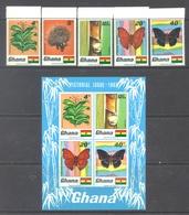GHANA - 1968 - MNH/** - FLOWERS  - Yv 319-323 BLOC 31 - Lot 17904 - Ghana (1957-...)