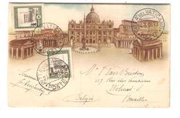 PR6042/ PC Illustrated S.S.Pio XI Cita Del Vaticano 1938 V.Woluwé Belgio-Belgium - Lettres & Documents