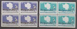 Chile 1971 Antarctic Treaty 2v Bl Of 4 ** Mnh  (40980G) - Chili