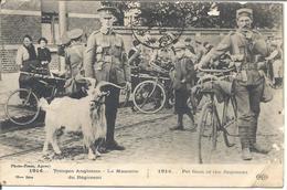 C P Troupes Anglaises Avec Leur Mascotte Pour Castelnau Sur Gupie (Lot Et Garonne) - Guerre 1914-18