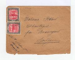 Sur Enveloppe Deux Timbres Soudan Méharistes Postiers 5 C. Noir Et Rose. CAD 1920. (745) - Soudan (...-1951)