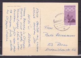 BRD, MiNr. 563 Auf Portoger. Karte Von München Nach Bonn; B-2167 - [7] Federal Republic
