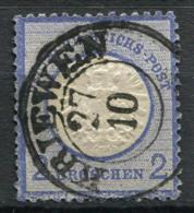 Germania Impero 1872 Mi. 20 Usato 100% 2 Gr, Scudo Grande - Germany