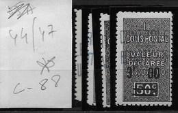 Algérie_Colis Postaux 44 à 47 * Cote 88 - Algérie (1924-1962)