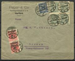 Germania Impero 1923 Busta 100% Bremen, Herford - Germany