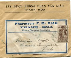 INDOCHINE LETTRE DEPART THANH-HOA 20-2-38 ANNAM POUR L'ANNAM - Indochina (1889-1945)