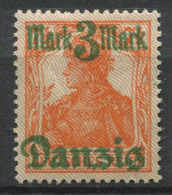 Danzica 1920 Mi. 29 II Nuovo * 100% 3 M, Danzig - Danzig