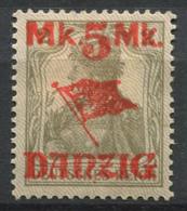 Danzica 1920 Mi. 30 II Nuovo * 100% 5 M, Danzig - Danzig