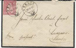 LOT DE 5 LETTRES - 1862-1881 Sitzende Helvetia (gezähnt)