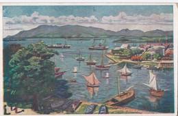 Carte 1930 GUADELOUPE / RADE DE POINTE A PITRE (peint Par Germaine Casse) - Pointe A Pitre