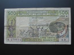 500 Francs 1981 - SENEGAL - Banque Central Des états De L'Afrique De L'ouest   **** EN ACHAT IMMEDIAT **** - Sénégal